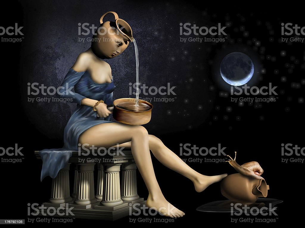 Surreal Woman stock photo