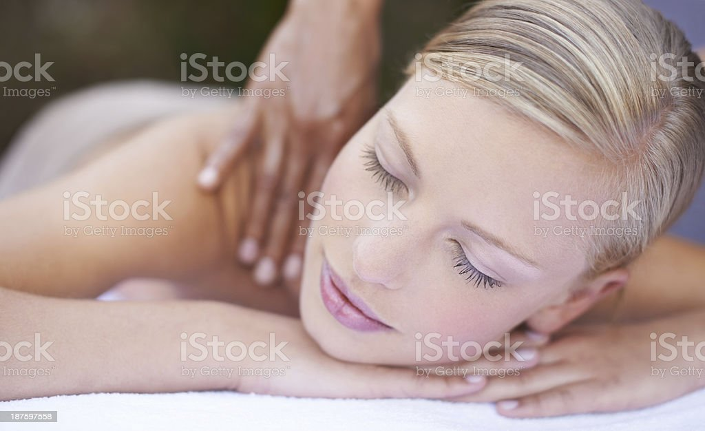 Surrendering to relaxation royalty-free stock photo
