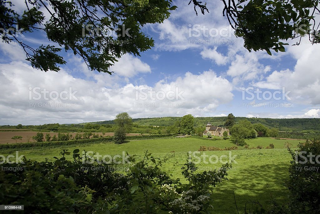 Surrey Countryside at Wotton stock photo