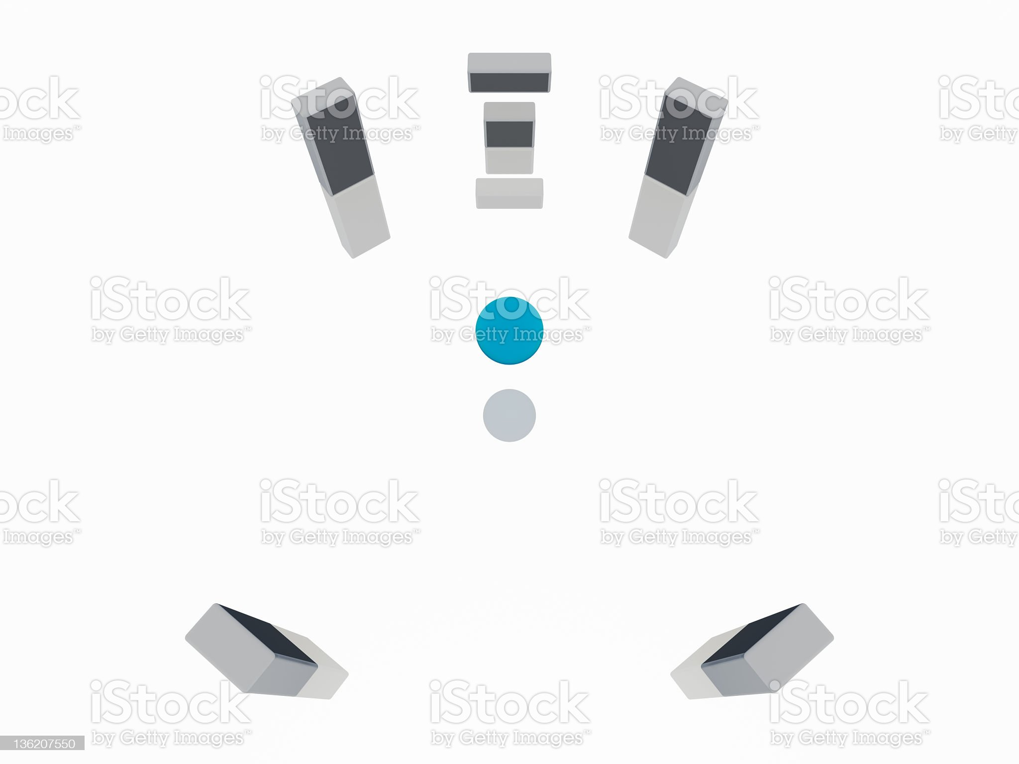 Surround sound 5.1 royalty-free stock vector art