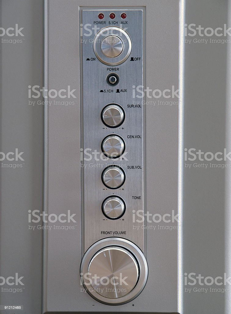 Surround Sound Control Panel royalty-free stock photo