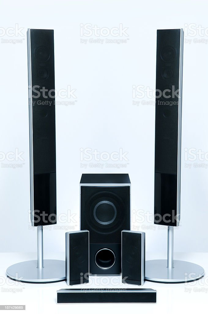 Surround Sound Speakers stock photo