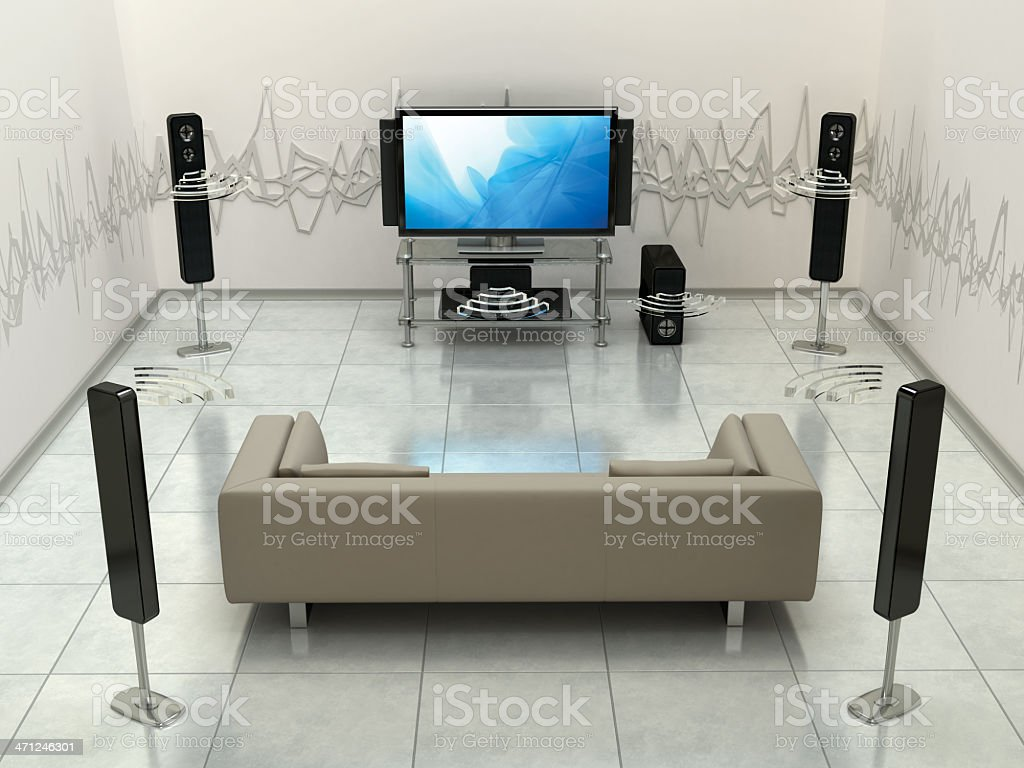 Surround sound system royalty-free stock photo