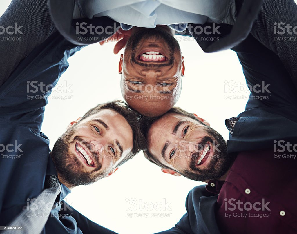 Surround yourself with people on the same mission as you stock photo