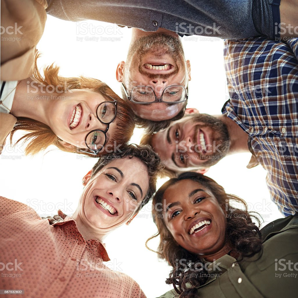 Surround yourself with those on the same mission as you stock photo