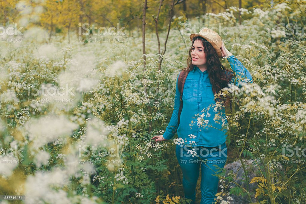 Surrounded by beautiful scents stock photo