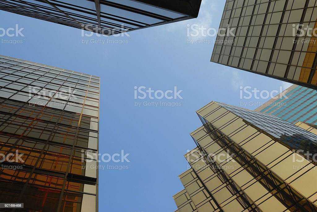surrounded by buildings royalty-free stock photo