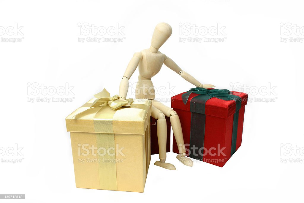 Surrounded By Gifts royalty-free stock photo