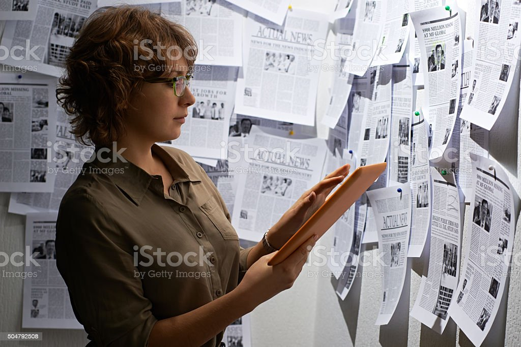 Surrounded by media stock photo