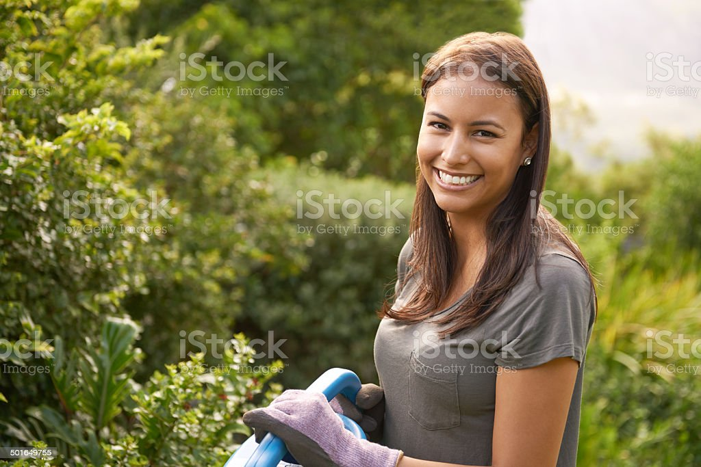 Surrounded by nature's beauty stock photo