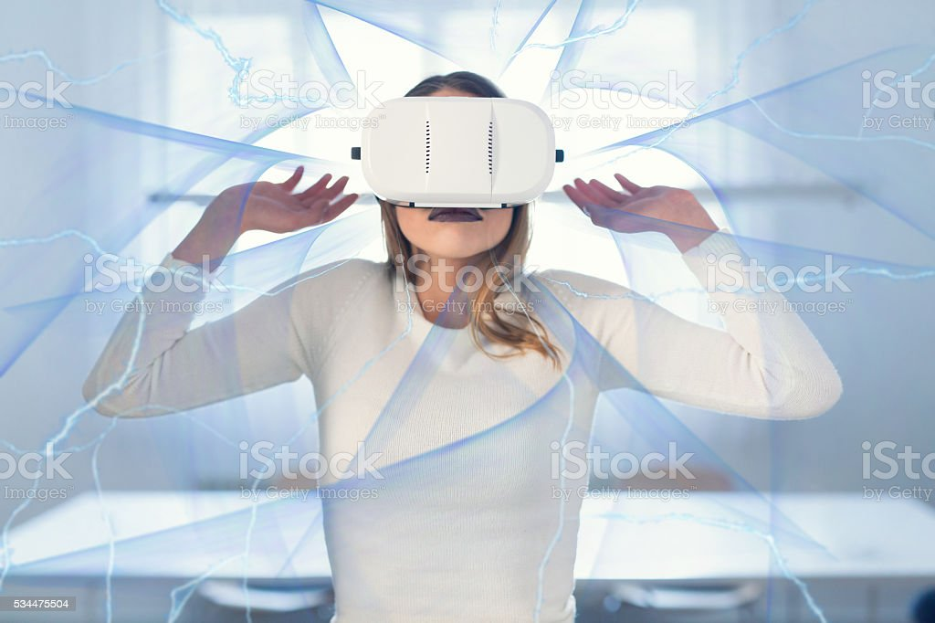 Surrounded by the appearance of the blue stock photo