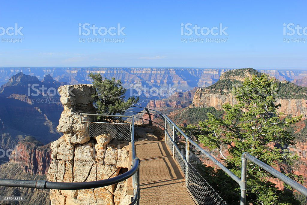 Surrounded by the Grand Canyon on the North Rim stock photo