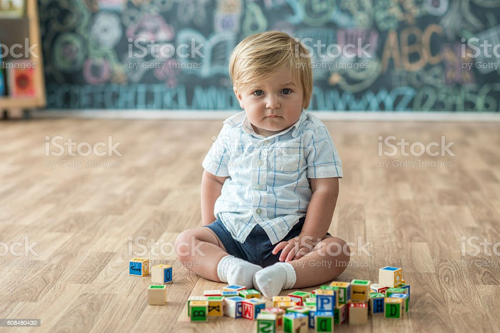 Surrounded by Toys stock photo