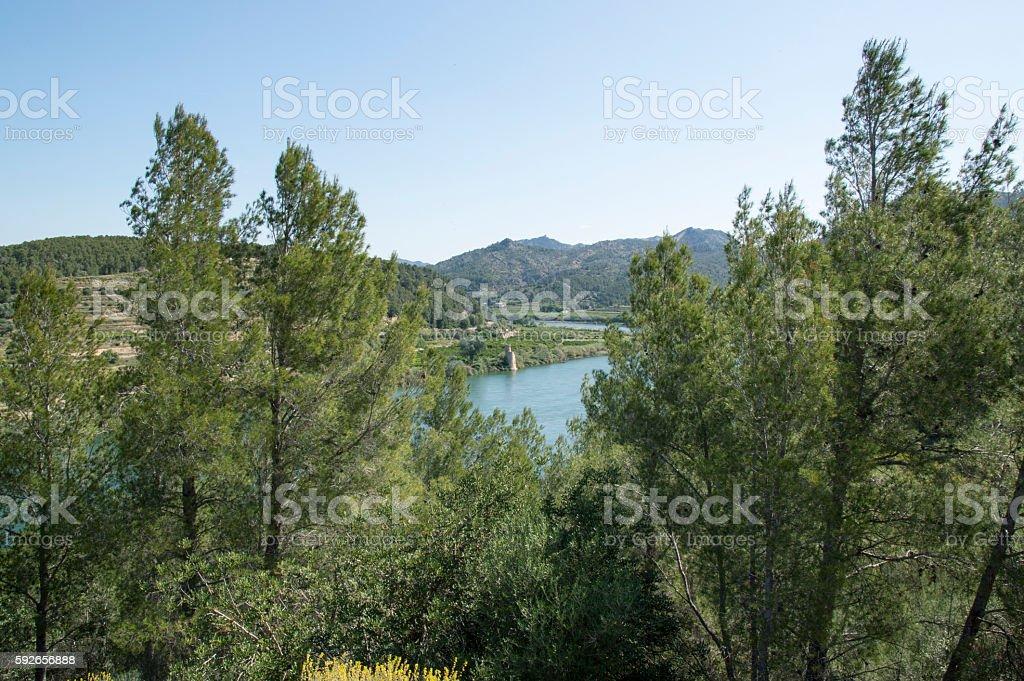 Surrounding the river Ebro stock photo