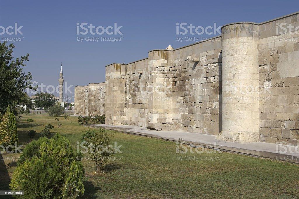 Surrounding Wall And Minaret stock photo