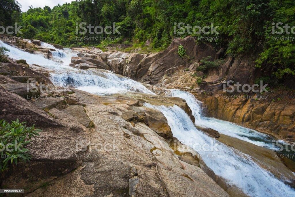 surroundings Yang Bay waterfall in Vietnam stock photo