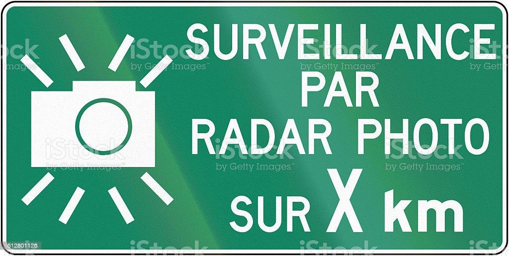 Surveillance By Radar Photo For X Kilometers In Canada stock photo