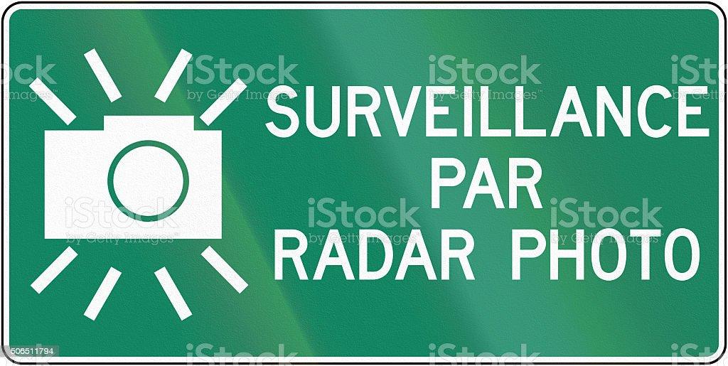 Surveillance By Radar Photo In Canada stock photo