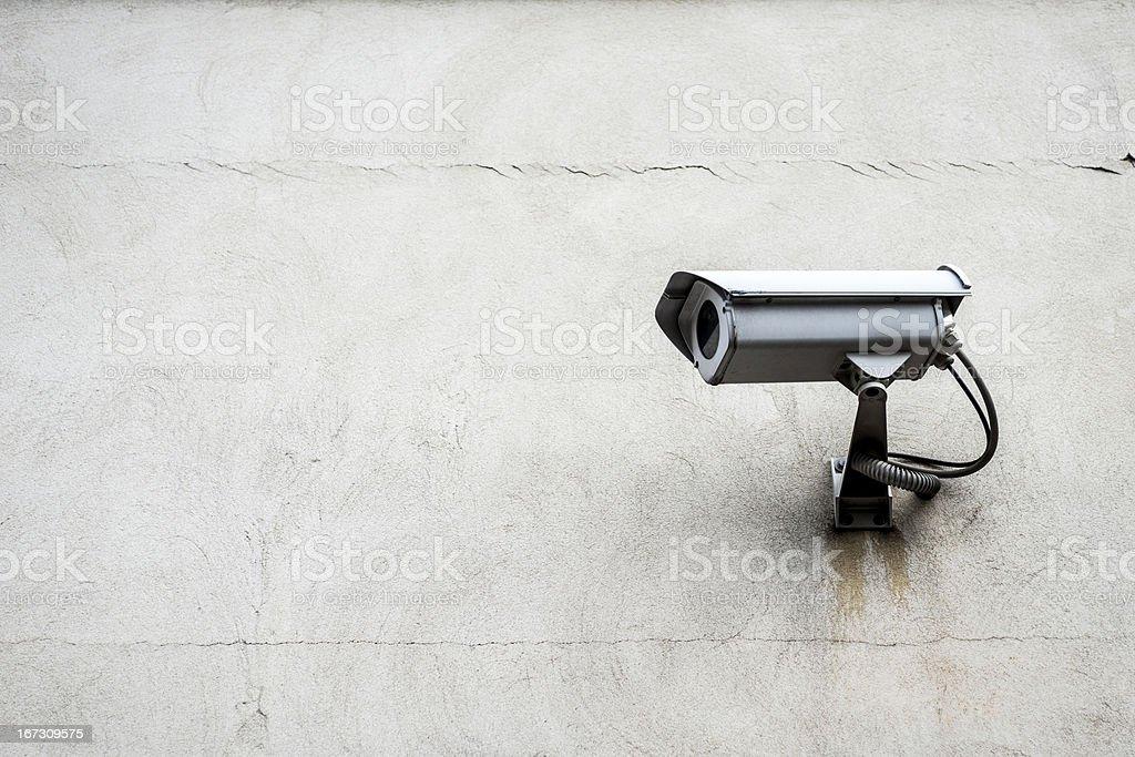 Surveillance camera with wall royalty-free stock photo