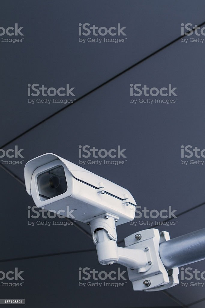 Surveillance CCTV security camera royalty-free stock photo