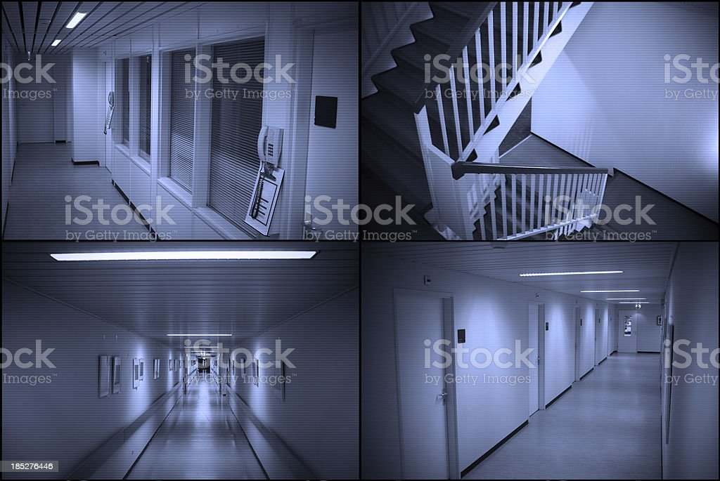 Surveillance monitor royalty-free stock photo