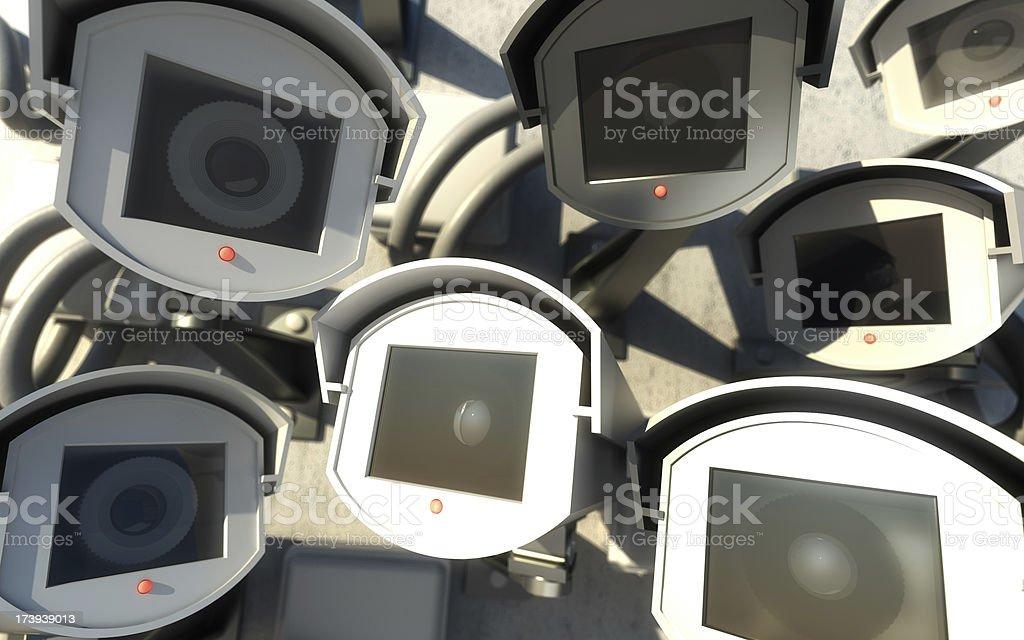 Surveillance Society royalty-free stock photo