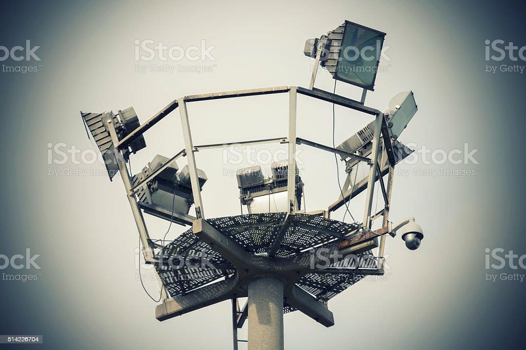 Surveillance Tower stock photo