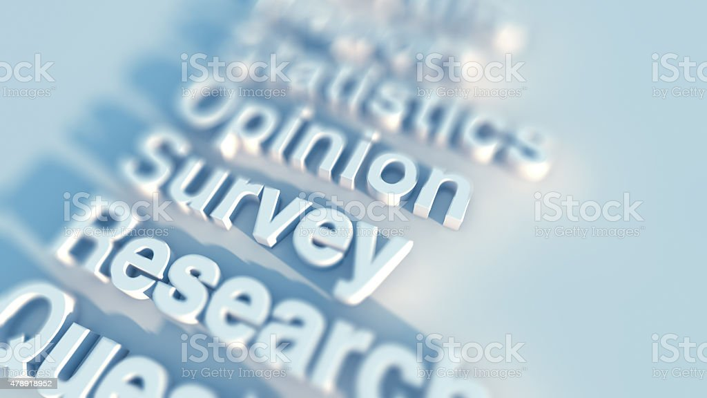 Survey and opinion stock photo