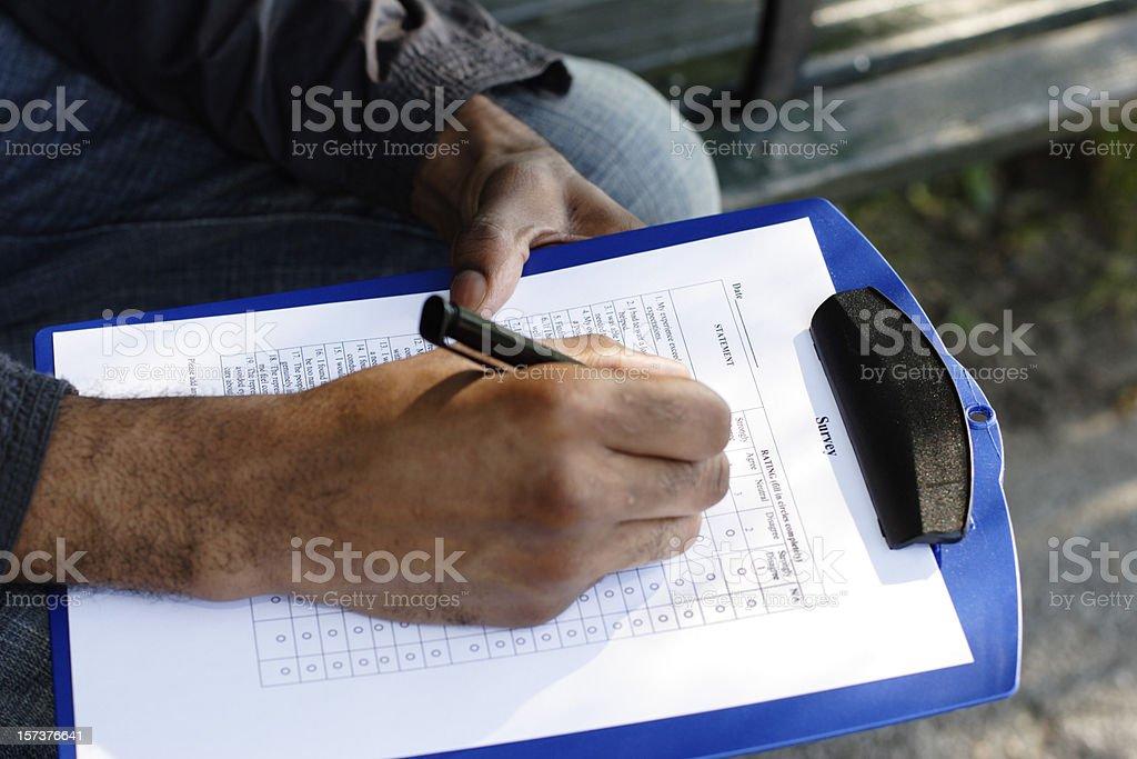 Survey Close-up royalty-free stock photo