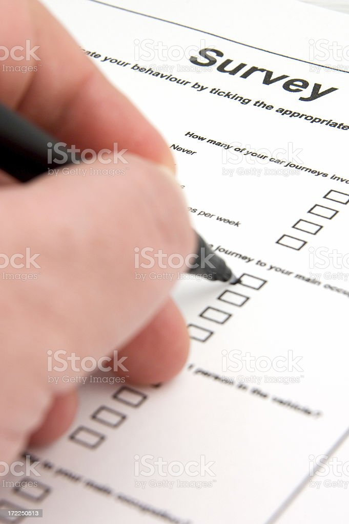 Survey completion royalty-free stock photo