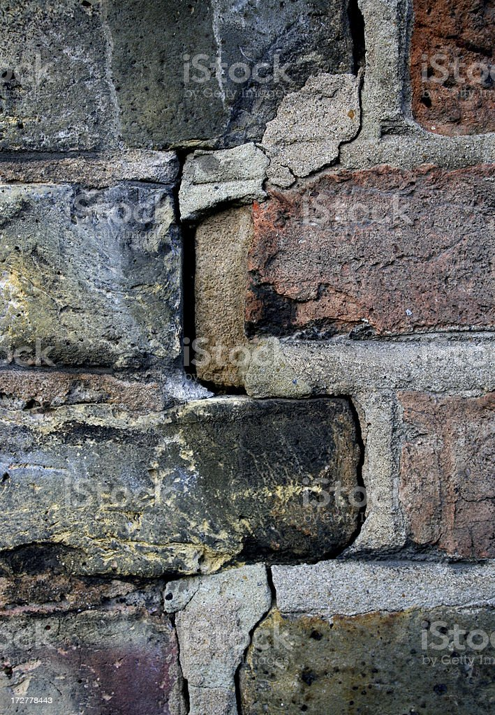 Survey - Crack in house walls stock photo