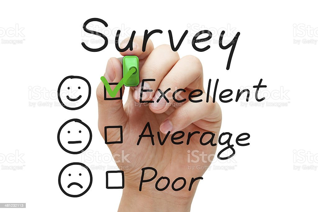 Survey Excellent Evaluation stock photo