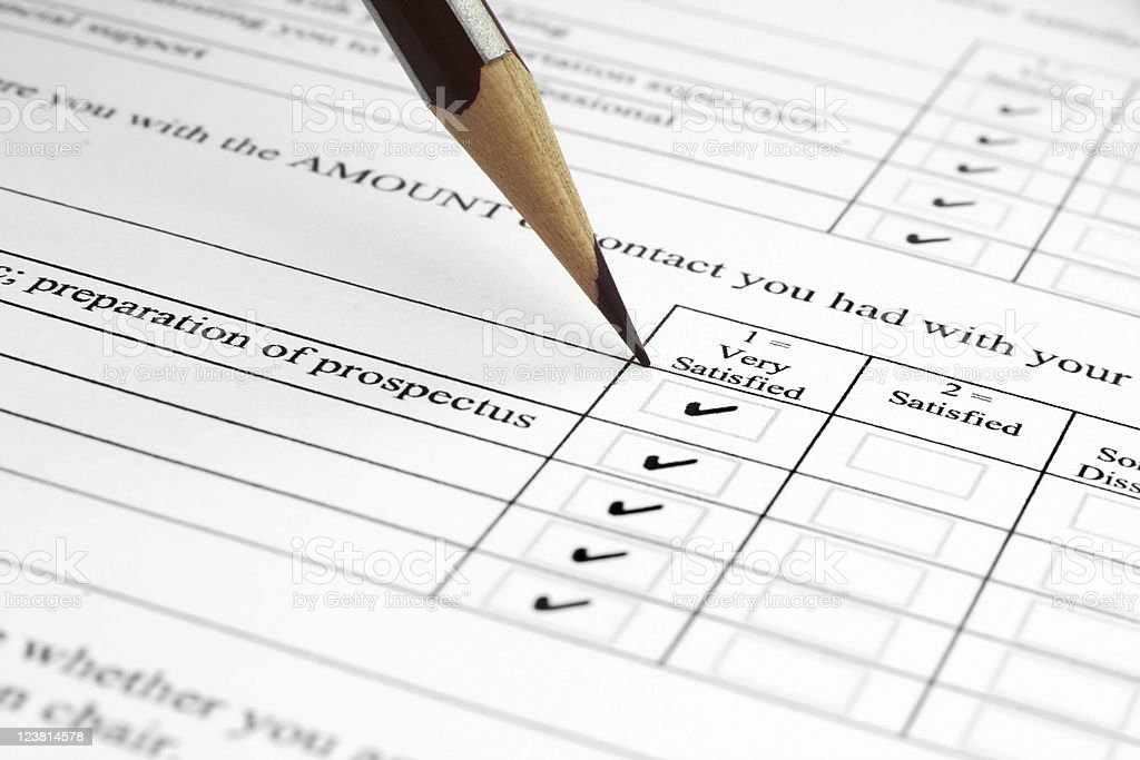 Survey form royalty-free stock photo