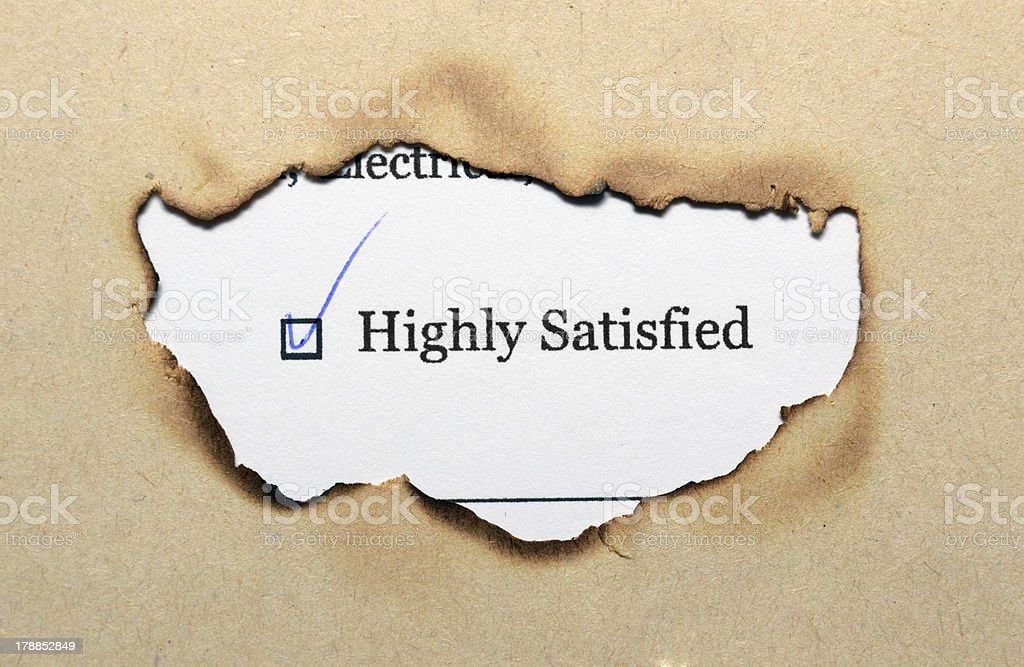 Survey form - satisfied royalty-free stock photo