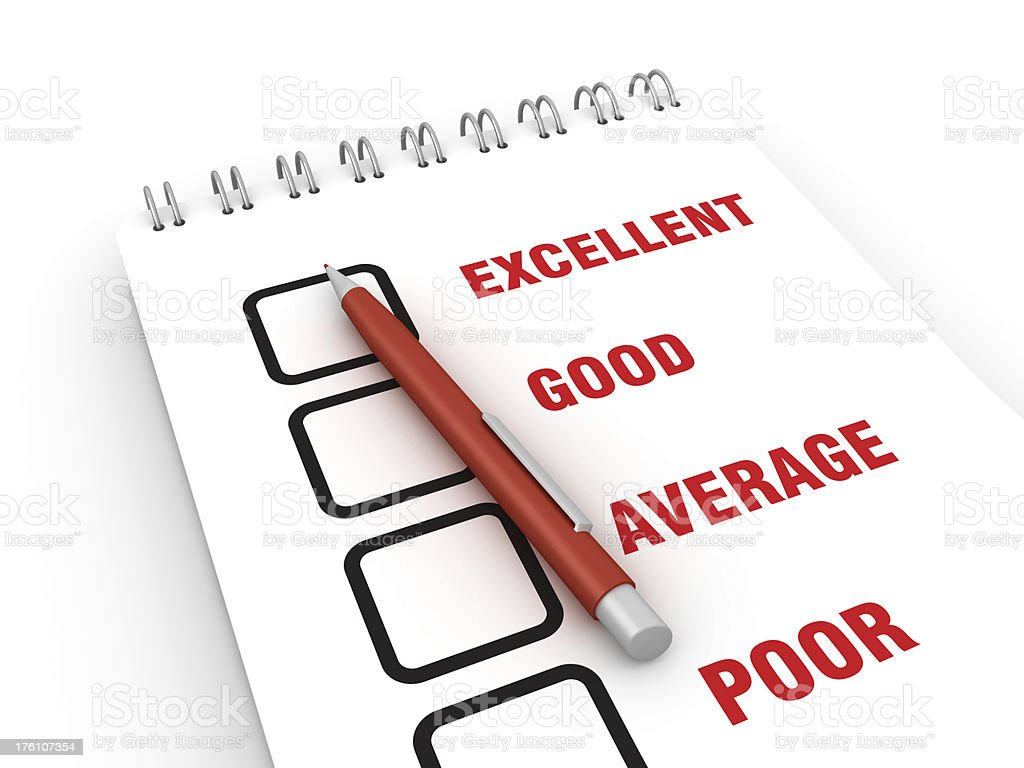 Survey List royalty-free stock photo