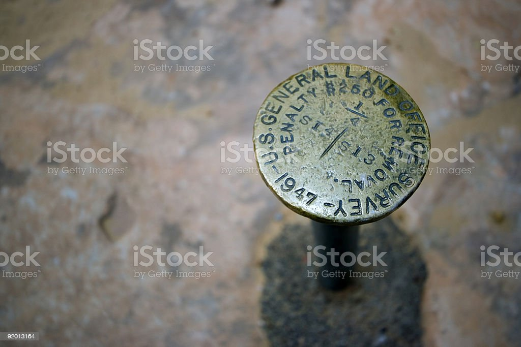 Survey Monument royalty-free stock photo