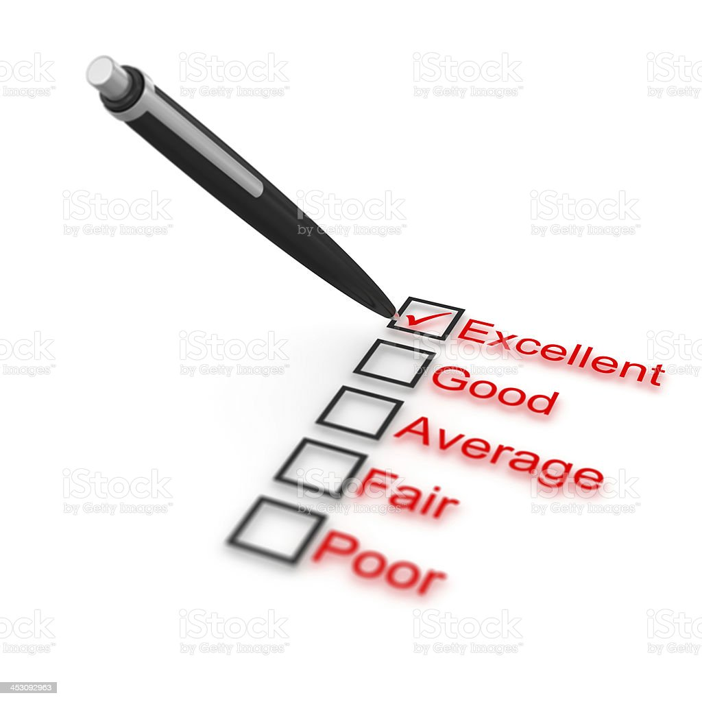Survey of quality royalty-free stock photo