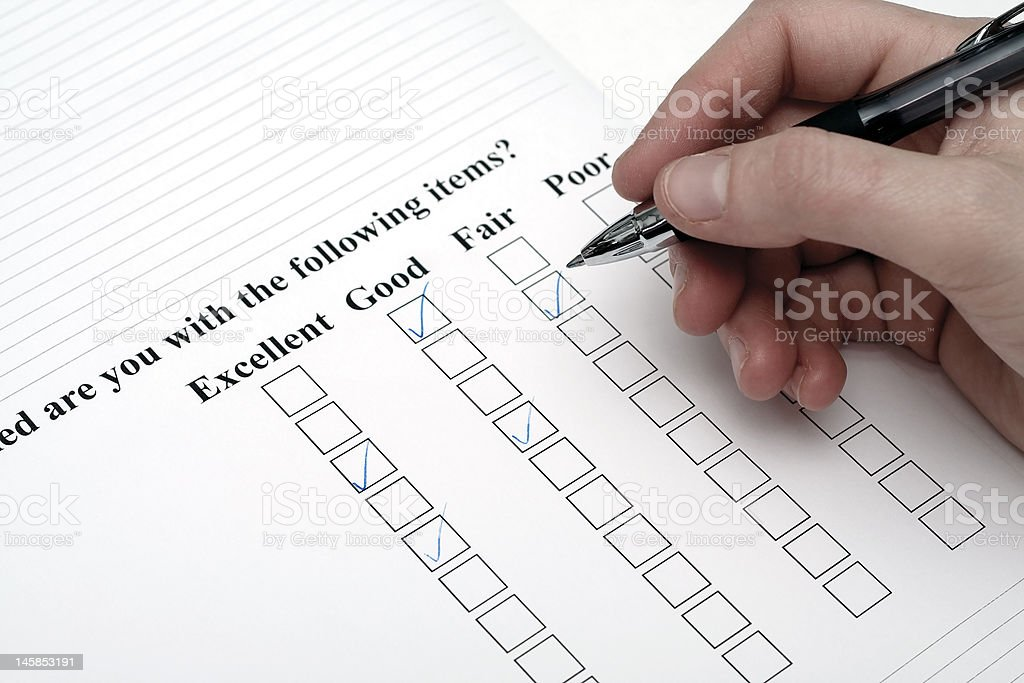 Survey royalty-free stock photo