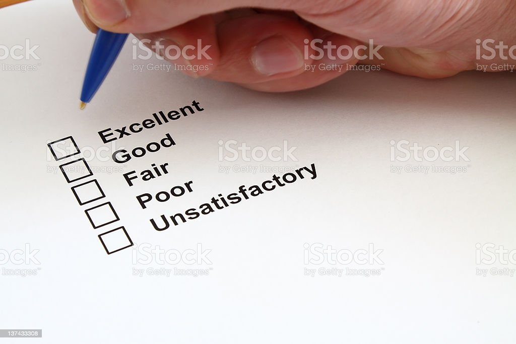 Survey questionnaire royalty-free stock photo