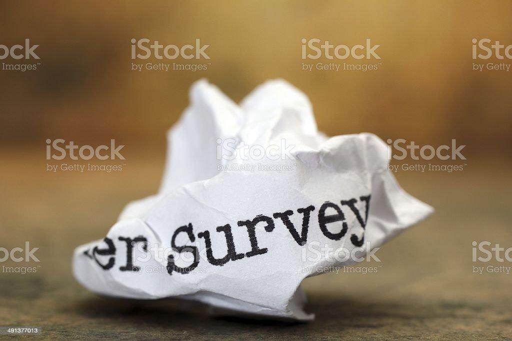 Survey trash royalty-free stock photo