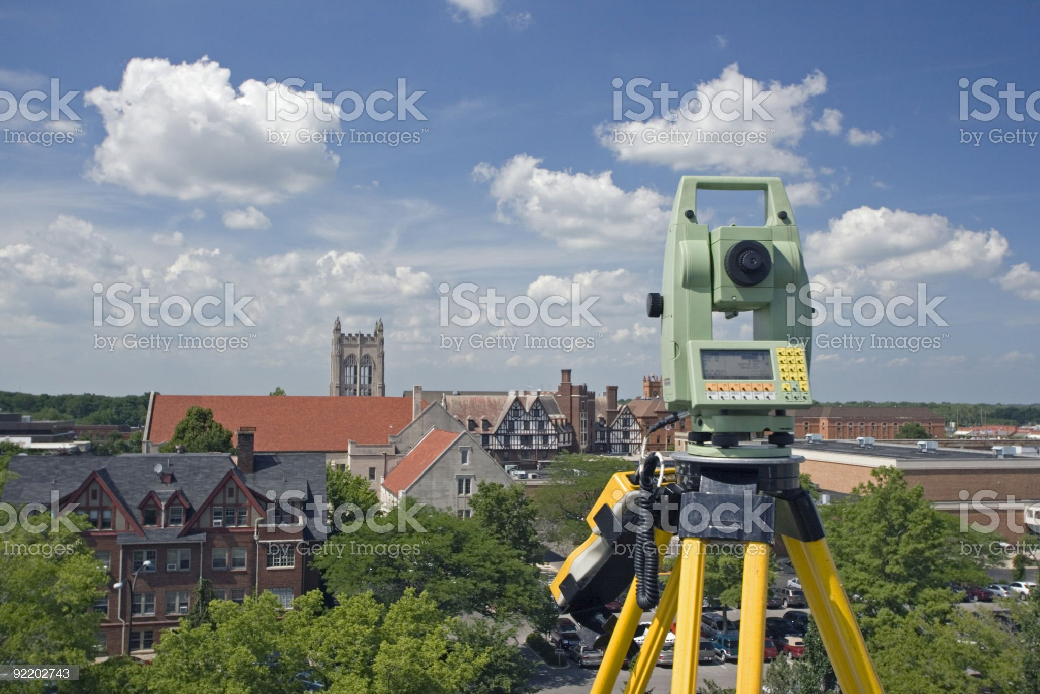 Surveying above the city royalty-free stock photo