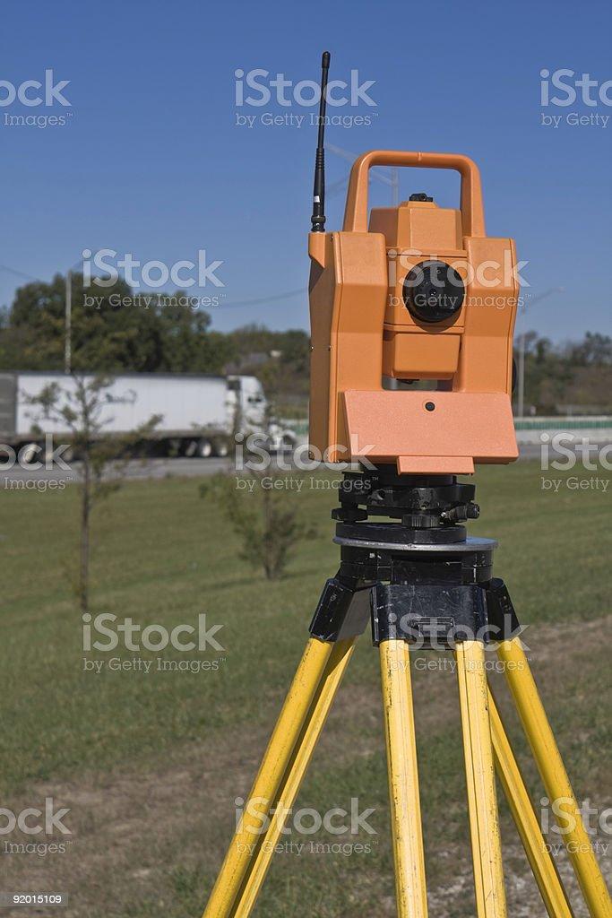 Surveying highway royalty-free stock photo