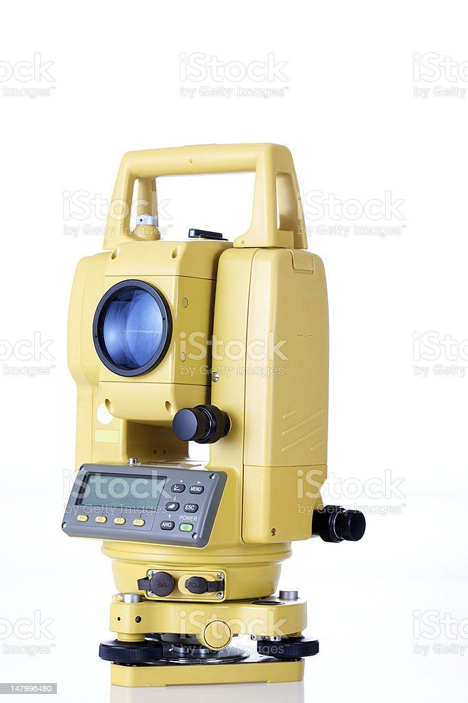 Surveying Level stock photo