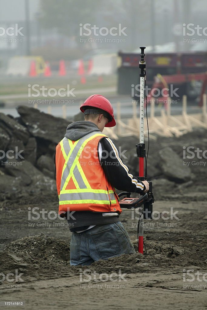 Surveying royalty-free stock photo
