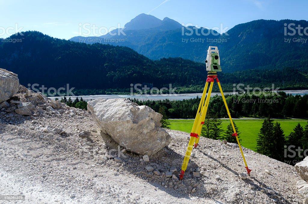 Surveying stock photo