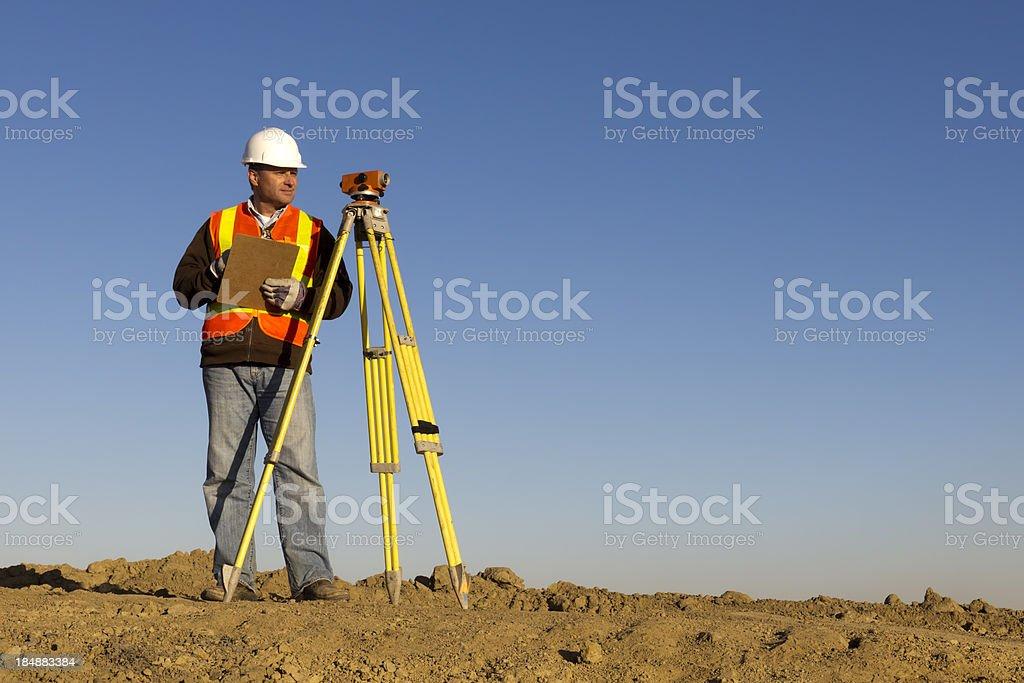 Surveyor and Equipment stock photo