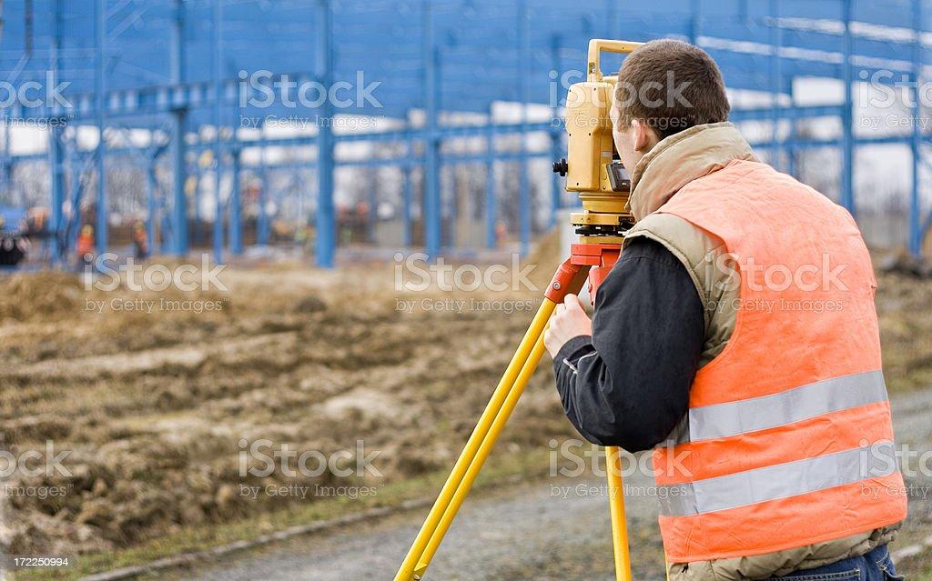 Surveyor at work stock photo