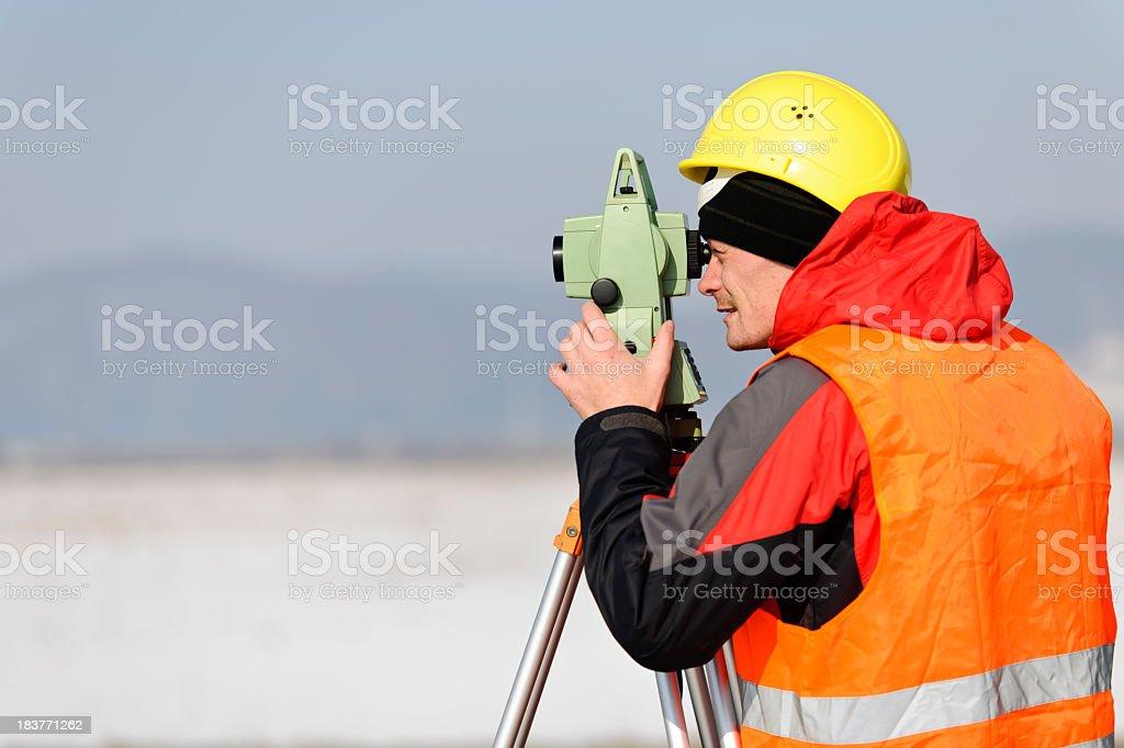 surveyor at work royalty-free stock photo