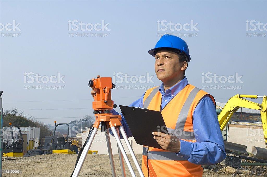 surveyor on site royalty-free stock photo