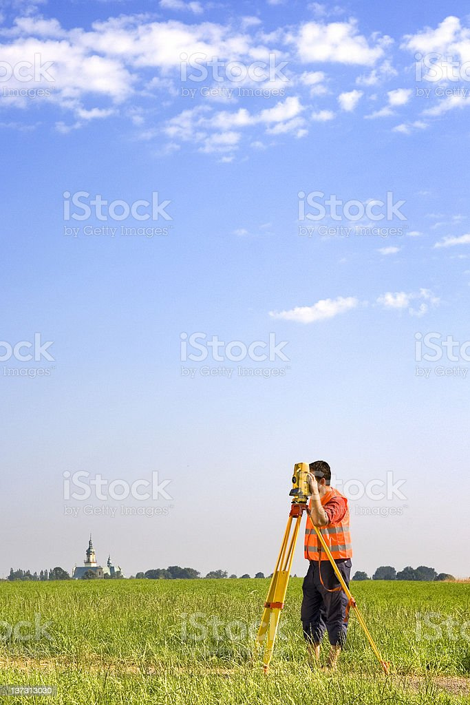 Surveyor royalty-free stock photo